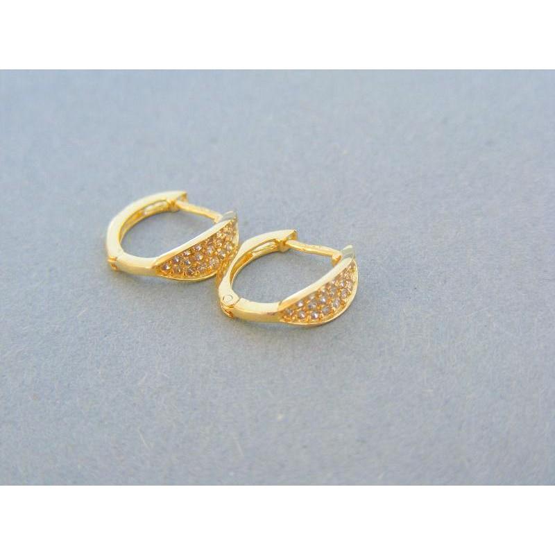 6496674c1 Vzorované detské náušnice kruhy žlté zlato kamienky DA135Z. Loading zoom