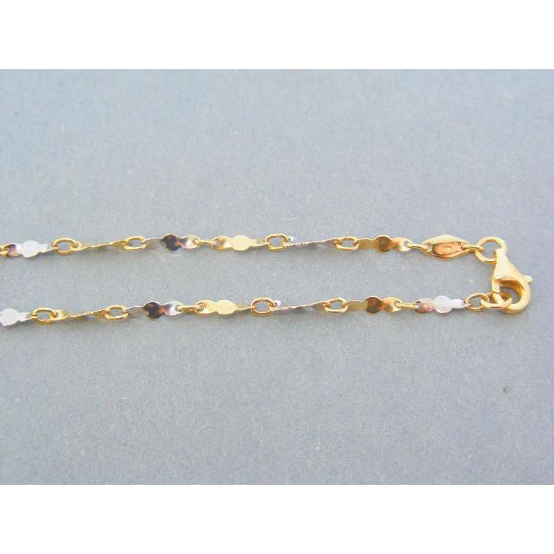 793d4dd85 Zlatá retiazka žlté biele zlato točený vzor DR45390Vst