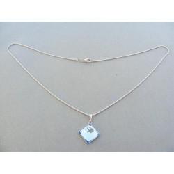 Strieborná dámska retiazka náhrdelnik kameň swarovského 4d705da243a