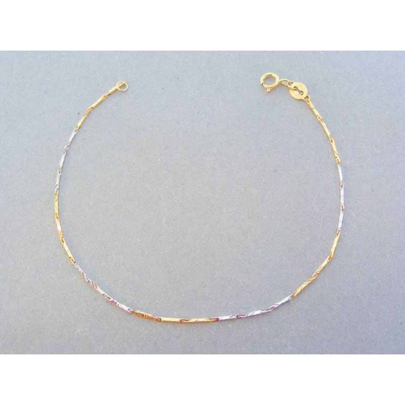 c39ee9179 Vzorovaný náramok žlté biele zlato VN18105Vpr