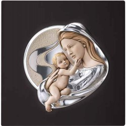 Pekný strieborný obraz matky s dieťaťom D95.0815C