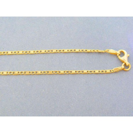 a458fcbd7 Zlatá retiazka žlté zlato zlaté platničky VR45427Zmi