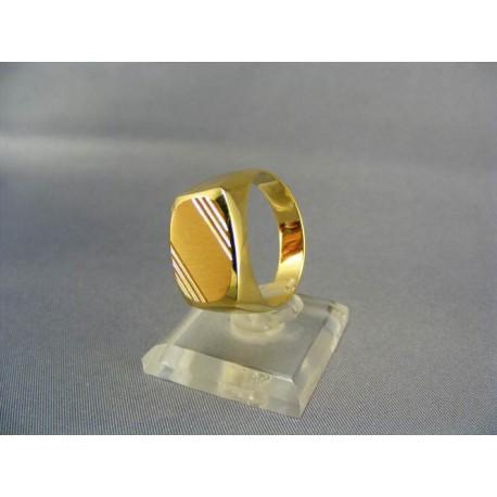 2909eb279 Zlatý pečatný pánsky prsteň žlté zlato