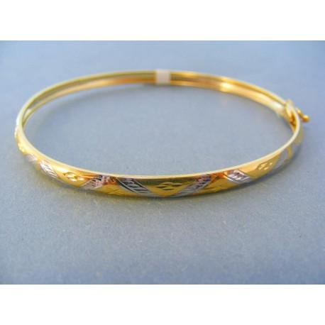 47ba3daa2 Zlatý náramok žlté biele zlato vzorovaný VN19360V