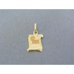 eb4ab2d41 Zlatý prívesok znamenie barán žlté zlato VI045Z