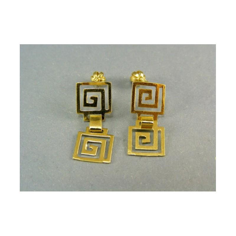 5134084be Zlaté náušnice visiace žlté zlato