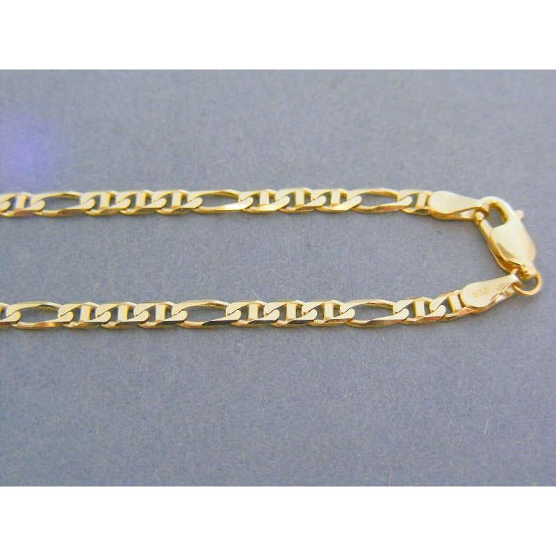 54f44a584 Zlatá retiazka žlté zlato vzor figáro VR505795Z. Loading zoom