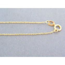 Zlatá dámska retiazka žlté zlato jemný vzor VR455083Z