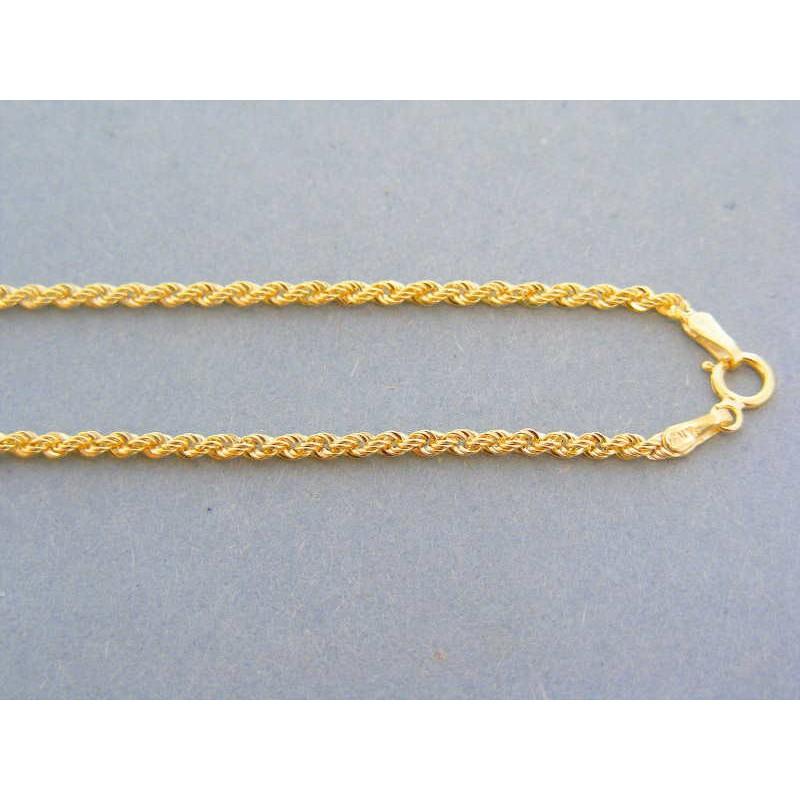 5e697845a Zlatá retiazka žlté zlato točená VR50186Z 14 karátov 585/1000 1.86g.  Loading zoom