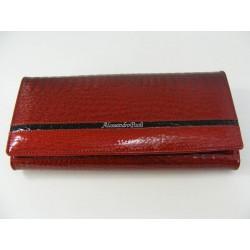 Dámska kožená peňaženka červená farba V02-14Rosso