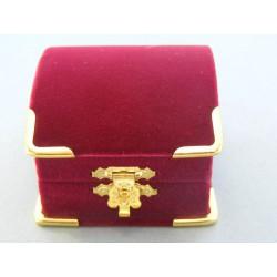 Zamatová krabička truhlica bordová modrá D390