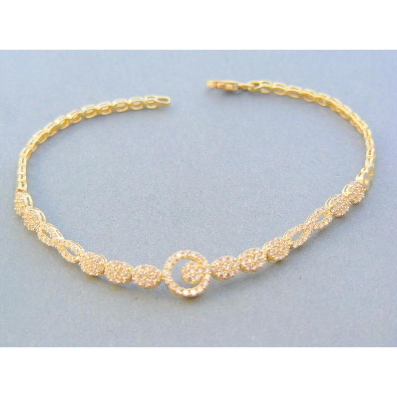45add710d Zlatý dámsky náramok žlté zlato kamienky VN185465Z 14 karátov 585/1000  4.65g. Loading zoom