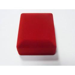 Zamatová krabička červená čierná F-220/A7
