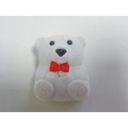 Zamatová krabička medvedik biely GD-8A20