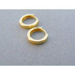 cd3eba012 Zlaté dámske náušnice kruhy žlté zlato DA098Z 14 karátov 585/1000 0.98g