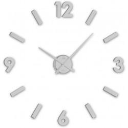 Nástenné nalepovacie hodiny strieborné JVD HC20.1
