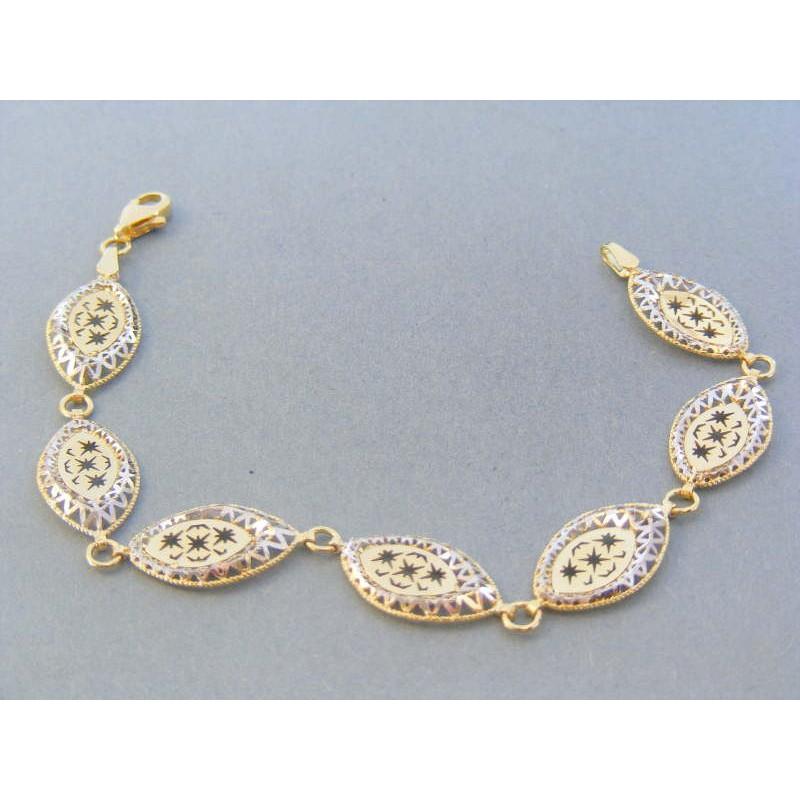 bbb45e232 Zlatý dámsky náramok žlté biele zlato vzorovaný VN185640V 14 karátov  585/1000 6.40g. Loading zoom