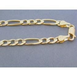 bdc5240fe Zlatá retiazka žlté zlato vzor figáro VR5551960Z 14 karátov 585/1000 19.60g