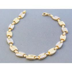 d2aa24033 Zlatý dámsky náramok žlté biele zlato vzorovaný DN195538V 14 karátov 585/ 1000 5.38g