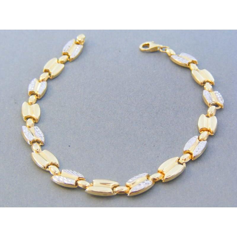 64680be1a Zlatý dámsky náramok žlté biele zlato vzorovaný DN195538V 14 karátov  585/1000 5.38g. Loading zoom