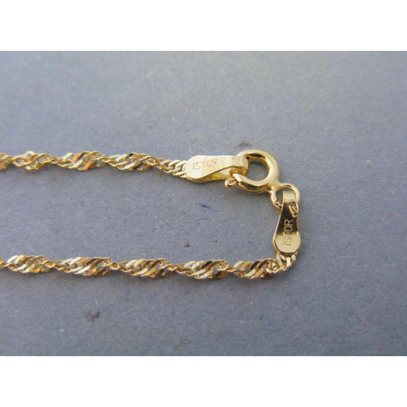 3f9e5c89b Zlatá dámska retiazka žlté zlato točený vzor VR445235Z 14 karátov 585/1000  2,35g. Loading zoom