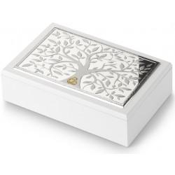 Strieborná šperkovnica strom života obrúčky CM452660