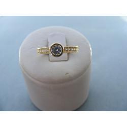 Prsteň žlté zlato zirkóny 14 karátov 585/1000