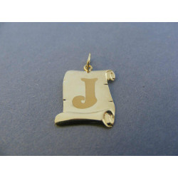 Zlatý prívesok písmeno J na Pergamone DI055Z žlté zlato 585/1000 14 karátov 0,55 g