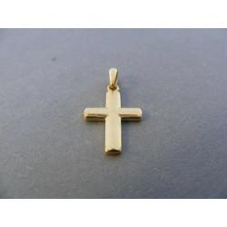 Zlatý prívesok krížik hladký DI069Z žlté zlato 14 karátov 585/1000 0,69 g