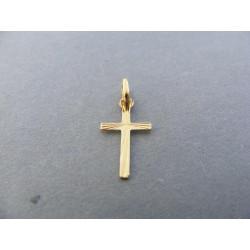 Zlatý prívesok krížik vzorovaný DI024Z žlté zlato 14 karátov 585/1000 0,24 g