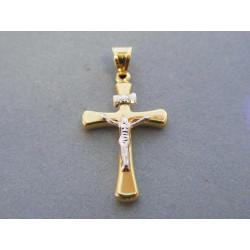 Zlatý prívesok Ježiš na kríži VI098V viacfarebné zlato 14 karátov 585/1000 0,98 g