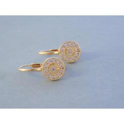 Zlaté naušnice dámske žlté zlato zirkóny DA257Z 14 karátov 585/1000 2,57 g