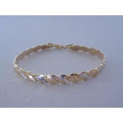 Zlatý dámsky náramok pletený vzor žlto biele zlato VN195741V 14 karátov 585/1000 7,41 g