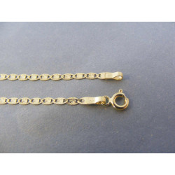 Zlatá dámska retiazka zaujímavé plné očká DR45246Z žlté zlato 14 karátov 585/1000 2,46 g