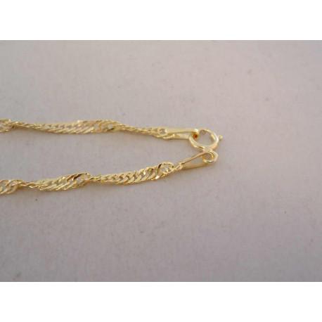 Dámska zlatá retiazka točená VR455135Z žlté zlato 14 karátov 585/1000 1,35 g