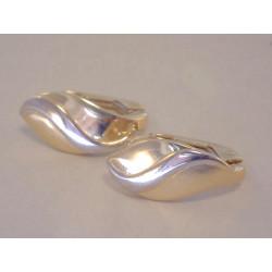 Jednoduché dámske zlaté naušnice VA178V viacfarebné zlato 14 karátov 585/1000 1,78 g