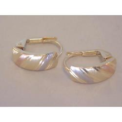 Pekné dámske zlaté naušnice viacfarebné zlato VA163V 14 karátov 585/1000 1,63 g