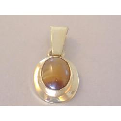 Zlatý prívesok žlté zlato Tigrie oko VI109Z 14 karátov 585/1000 1,09 g