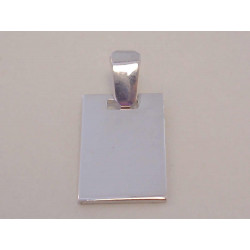 Strieborný prívesok Platnička hladký povrch VIS186 925/1000 1,86 g