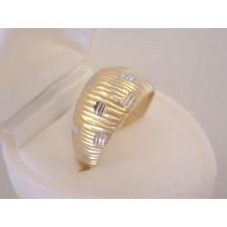 Zlatý dámsky prsteň viacfarebné zlato jemné zárezy VP59441V viacfarebné zlato 14 karátov 585/1000 4,41 g