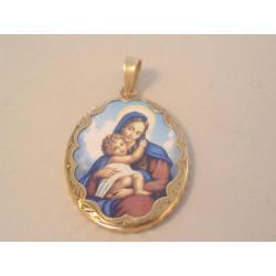 Zlatý prívesok Mária s Ježišom DI518Z žlté zlato 14 karátov 585/1000 5,18 g